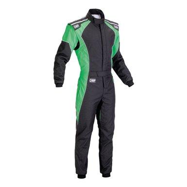 OMPカート&走行会レーシングスーツ(Kartsuits) ケイエススリー(KS-3)fluo ブラック/グリーン【CIK-FIA公…