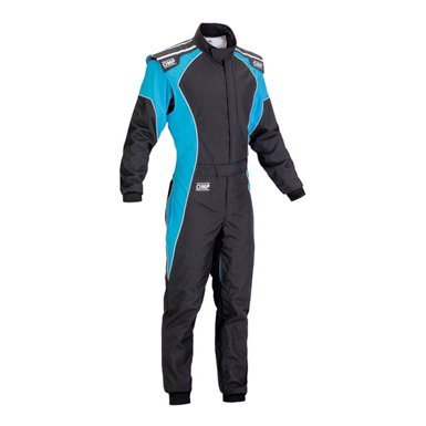 OMPカート&走行会レーシングスーツ(Kartsuits) ケイエススリー(KS-3)fluo ブラック/ブルー【CIK-FIA公…