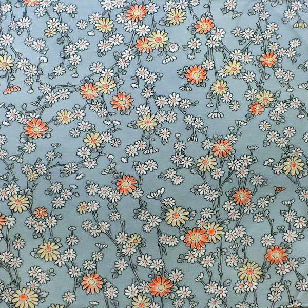 小紋ブルー小花