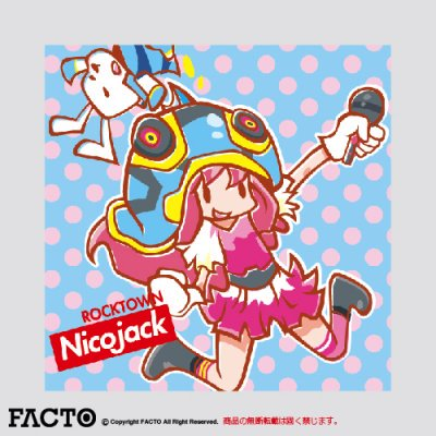 NicoJack 缶バッジ 四角(40) ノーマル