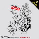 NicoJack ステッカー Lサイズ 透明