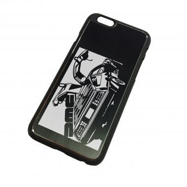 iPhone6ケース「DMC DMC12 デロリアン 」切り絵デザイン ブラックアルマイト[CI6-054]