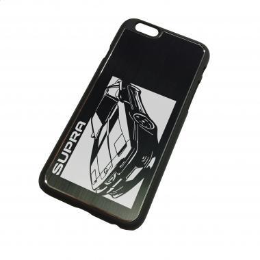 iPhone6ケース「トヨタ(TOYOTA) スープラ JZA70」切り絵デザイン ブラックアルマイト[CI6-076]