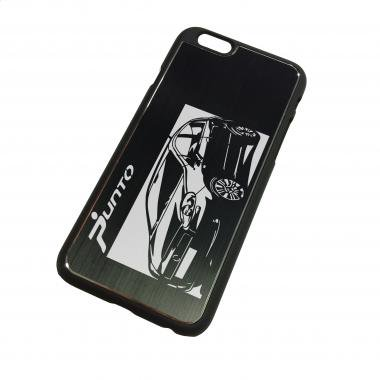 iPhone6ケース「フィアット(FIAT) グランデプント」切り絵デザイン ブラックアルマイト[CI6-090]