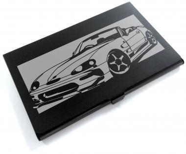 ブラックアルマイト「スズキ(SUZUKI) カプチーノ 」切り絵デザインのカードケース[CC-034]