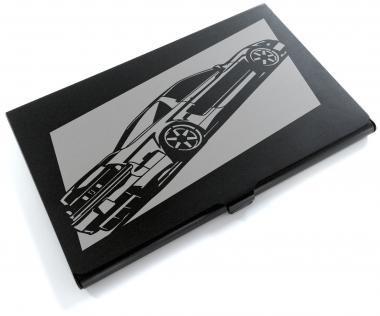 ブラックアルマイト「ホンダ(HONDA) NSX」切り絵デザインのカードケース[CC-041]