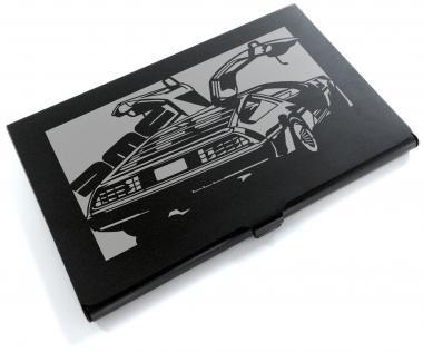 ブラックアルマイト「DMC DMC12 デロリアン 」切り絵デザインのカードケース[CC-054]