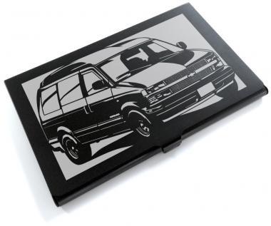 シボレー(Chevrolet) アストロ97ハイルーフの切り絵をデザインしたカードケース[CC-120]