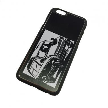 シボレー(Chevrolet) アストロ97ハイルーフの切り絵をデザインしたiPhoneケース(iPhone6用)[CI6-120]