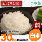 白米30キロ令和2年度宮城県産・つや姫|特別栽培米(農薬、化学肥料不使用)