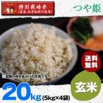 玄米20キロ令和2年度宮城県産・つや姫|特別栽培米(農薬、化学肥料不使用)