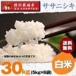 白米30キロ令和2年度宮城県産・ササニシキ|特別栽培米(農薬、化学肥料不使用)