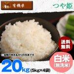 【6ヶ月定期便】無洗米20キロ宮城県産・つや姫|有機米(有機JAS認証)