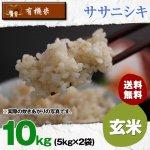【6ヶ月定期便】玄米10キロ宮城県産・ササニシキ|有機米(有機JAS認証)