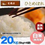 【6ヶ月定期便】無洗米20キロ宮城県産・ひとめぼれ|有機米(有機JAS認証)