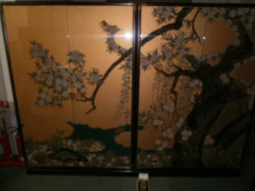 宝石象嵌 「箪笥二点 桜」