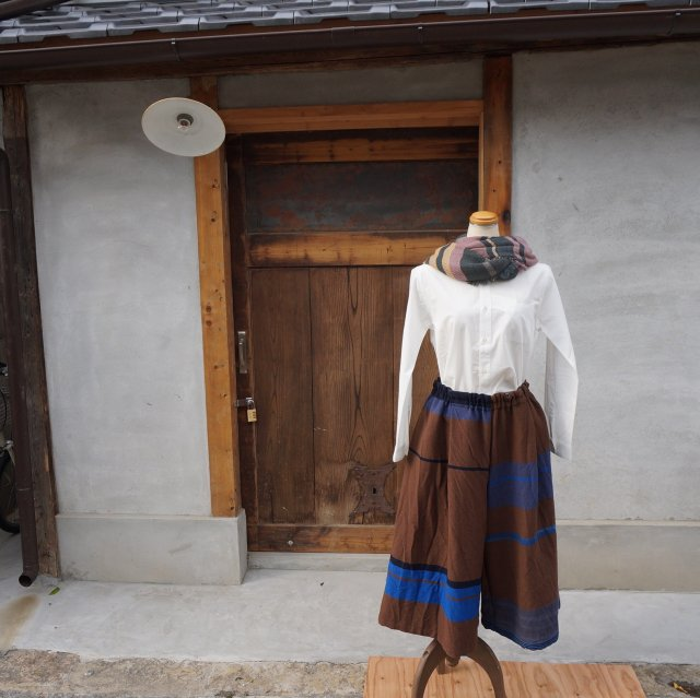 【tamaki niime】ウールワイドパンツショート(Only wide pants short)WWPS