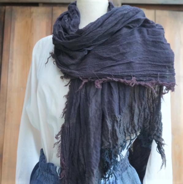 【tamaki niime】コットンショールBig(roots shawl big)CB 29