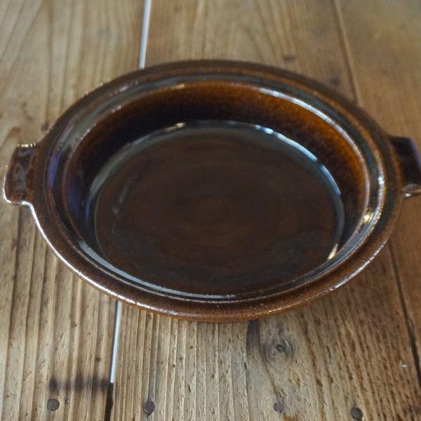 【古谷製陶所】アメ釉 耐熱グラタン皿