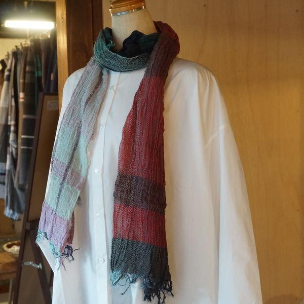 【tamaki niime】コットンショールM(roots shawl middle)CM