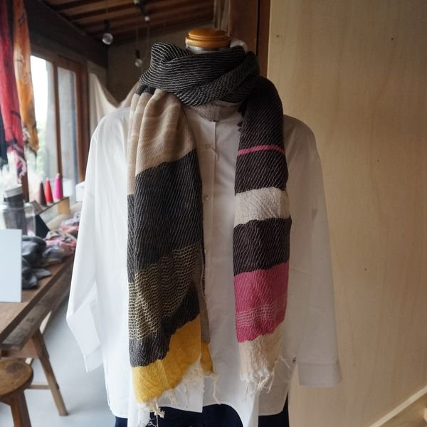 【tamaki niime】ウールショールM(roots shawl middle)WM
