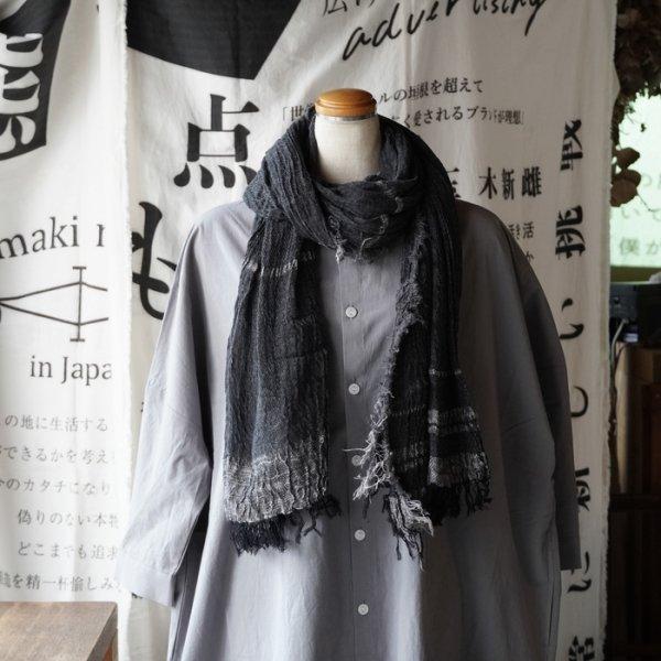 【tamaki niime】コットンショールBig(basic shawl) No.30