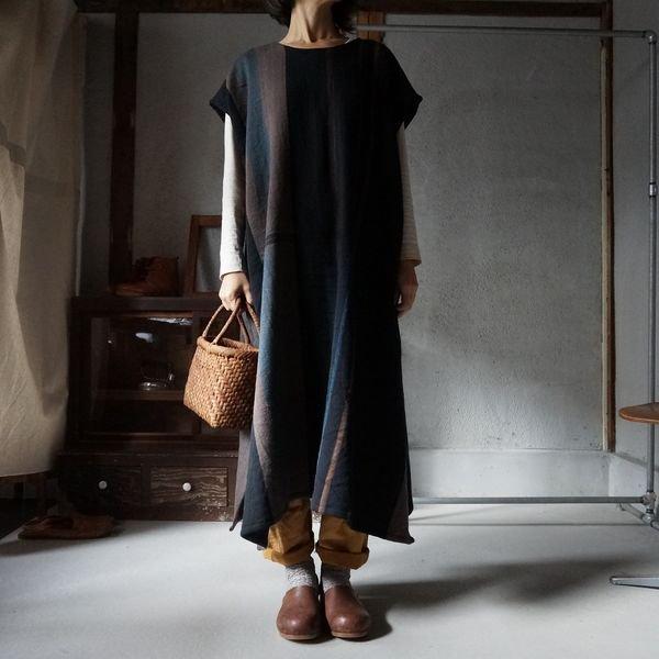 【tamaki niime】ウールfuwa-T long WFWL