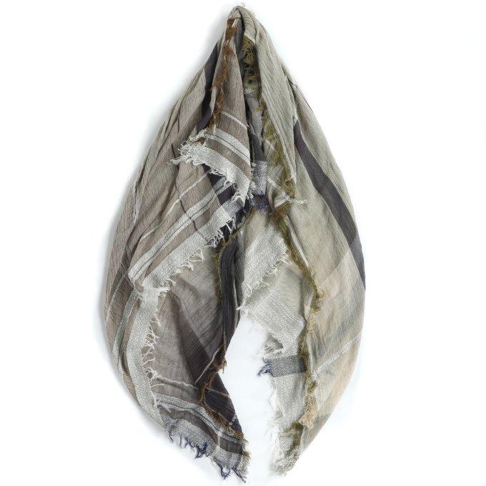 【tamaki niime】コットンショールBig(basic shawl) No.9
