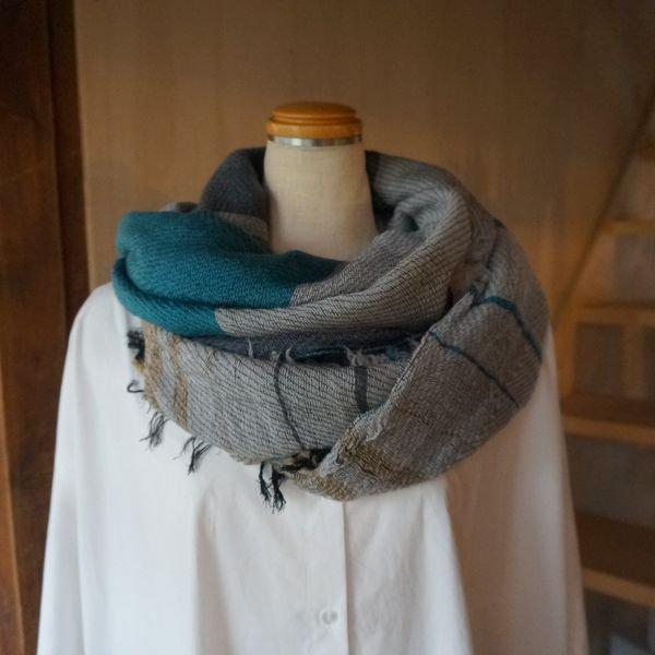 【tamaki niime】ウールショールM(roots shawl middle)WM