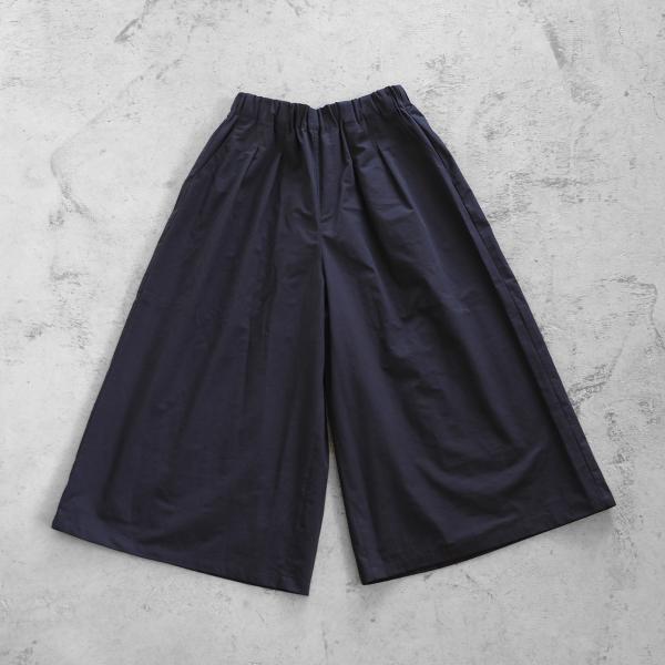 【HUIS】やわらかコットンスカートパンツ(ダークグレー)【レディス】
