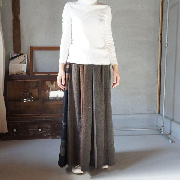 【tamaki niime】ウールポワンスカート ロング Only one powan skirt long WPSL