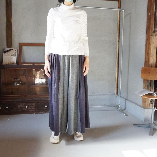 【tamaki niime】ウールワイドパンツロング(Only wide pants long)WWPL