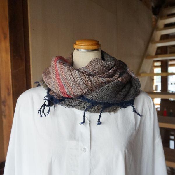 【tamaki niime】ウールショールS(roots shawl small)WS