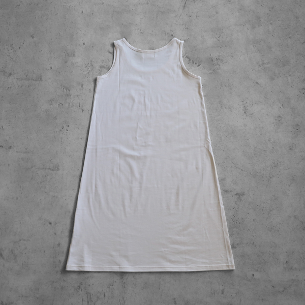【HUIS in house】 SUVIN COTTONタンクトップワンピース(ivory)【レディス】