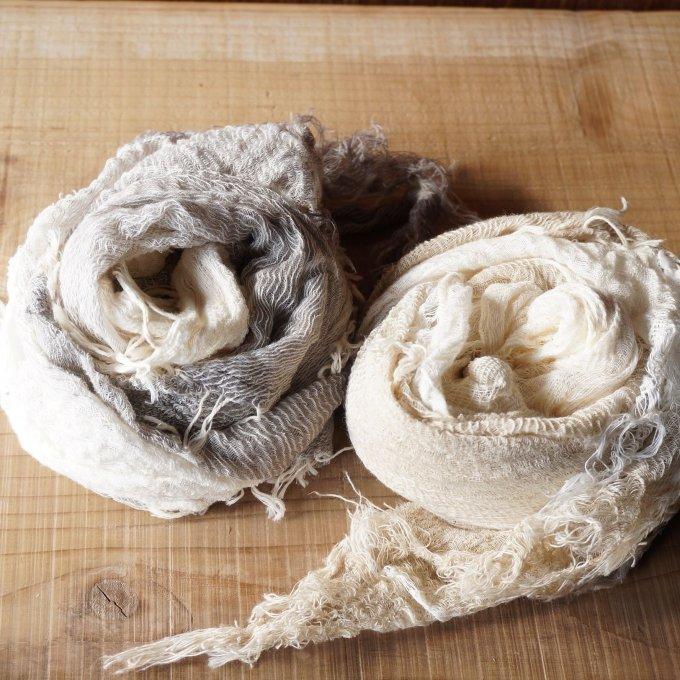 【tamaki niime】×【ルポデミディ】コットンショールS(roots shawl small)CS