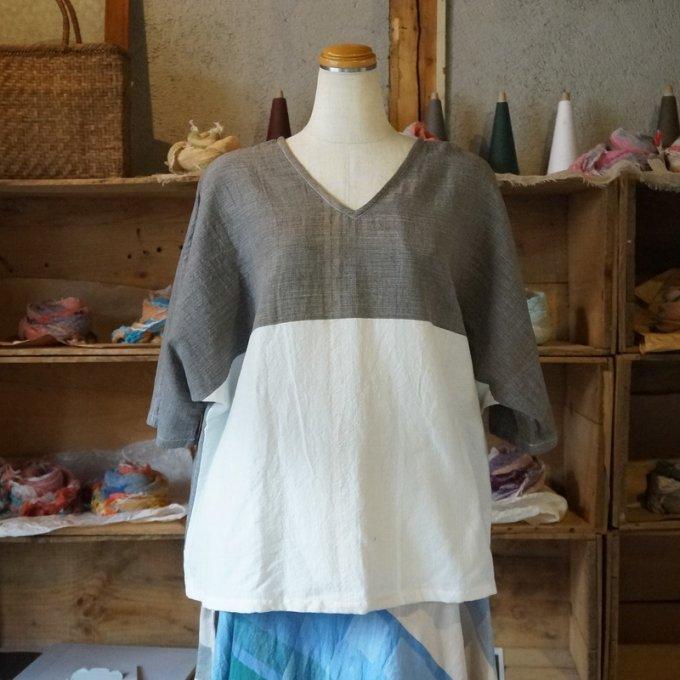 【tamaki niime】コットン fuwa-T half sleeves size0