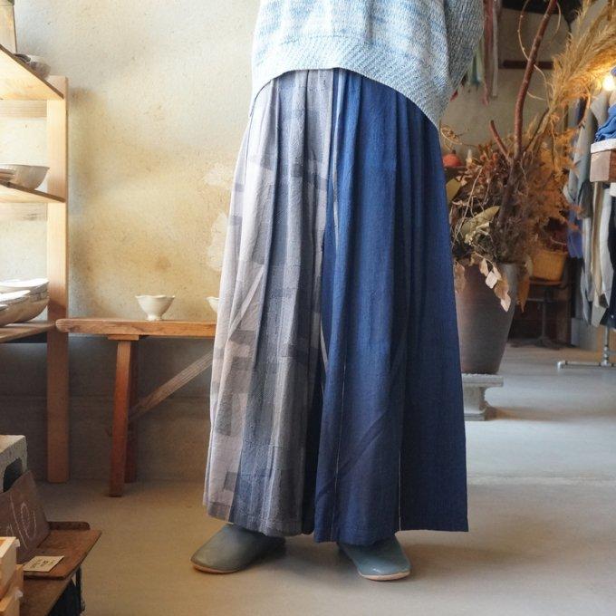【tamaki niime】【春展】コットンワイドパンツ long