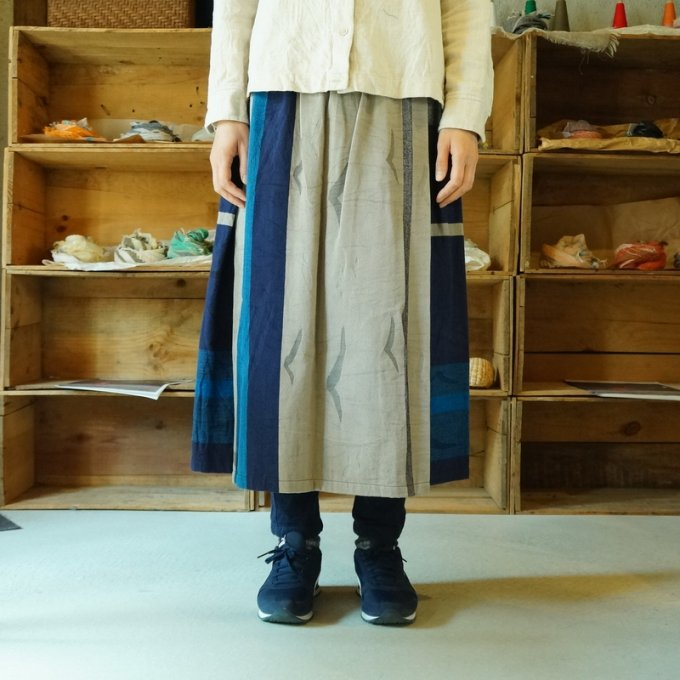 【tamaki niime】【春展】コットン ポワンスカート short