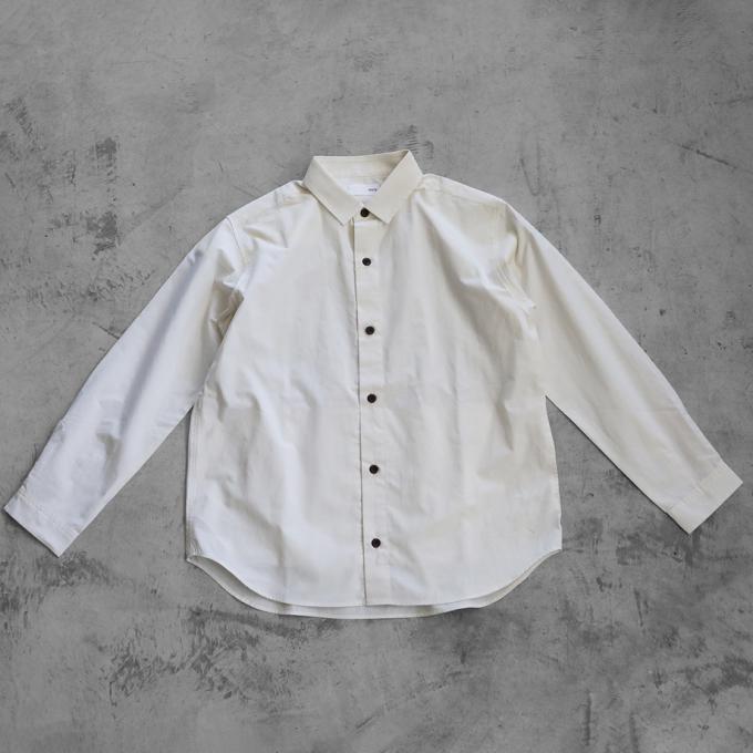【HUIS.】013オーガニックコットンオーバーサイズシャツ【ユニセックス】