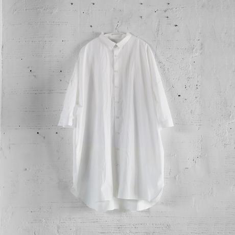 【HUIS】004 タイプライタークロスロングシャツ(白)