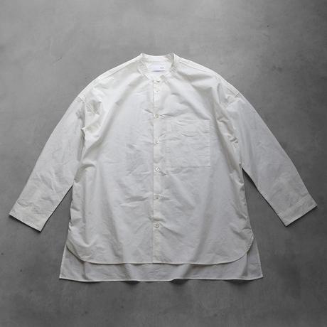 【HUIS.】015 タイプライタークロスバンドカラーオーバーシャツ(白)【ユニセックス】