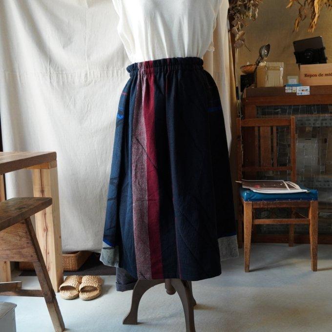【tamaki niime】ウールポワンスカート