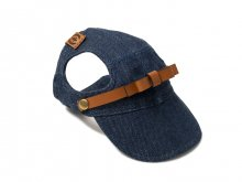 FLORENCE LEATHER CAP (indigo)