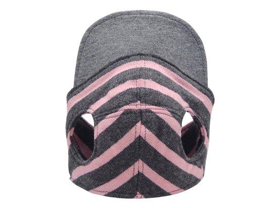 BORDER CAP(gray×pink)