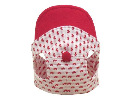 ハート柄CAP (red)