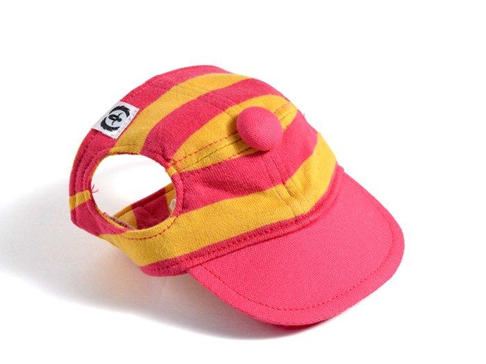 CANDY CAP (pink×mustard)