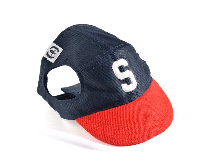 COLLEGE CAP (navy×red)