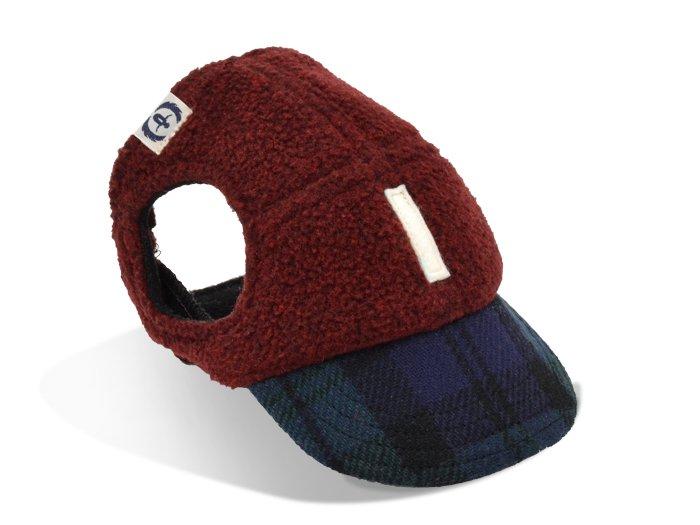 SCOTLAND CAP (burgundy×tartan)