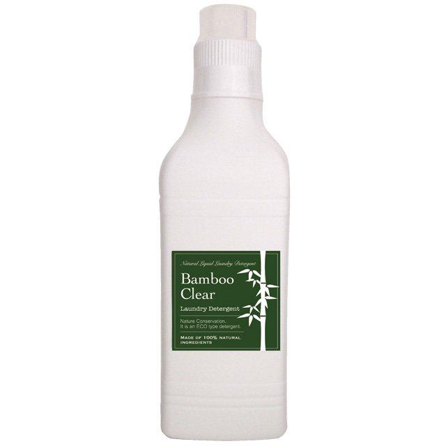 天然成分100%の無添加洗濯用竹洗剤 Bamboo Clear1L(1リットル)ボトルタイプ