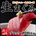 <生マグロ(鮪/まぐろ)刺身 約1.2kgブロック>【冷凍・冷蔵便同梱可】